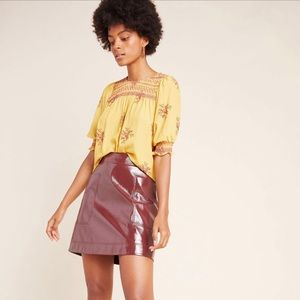 Maeve Anthropologie Faux Leather Skirt Sz 2